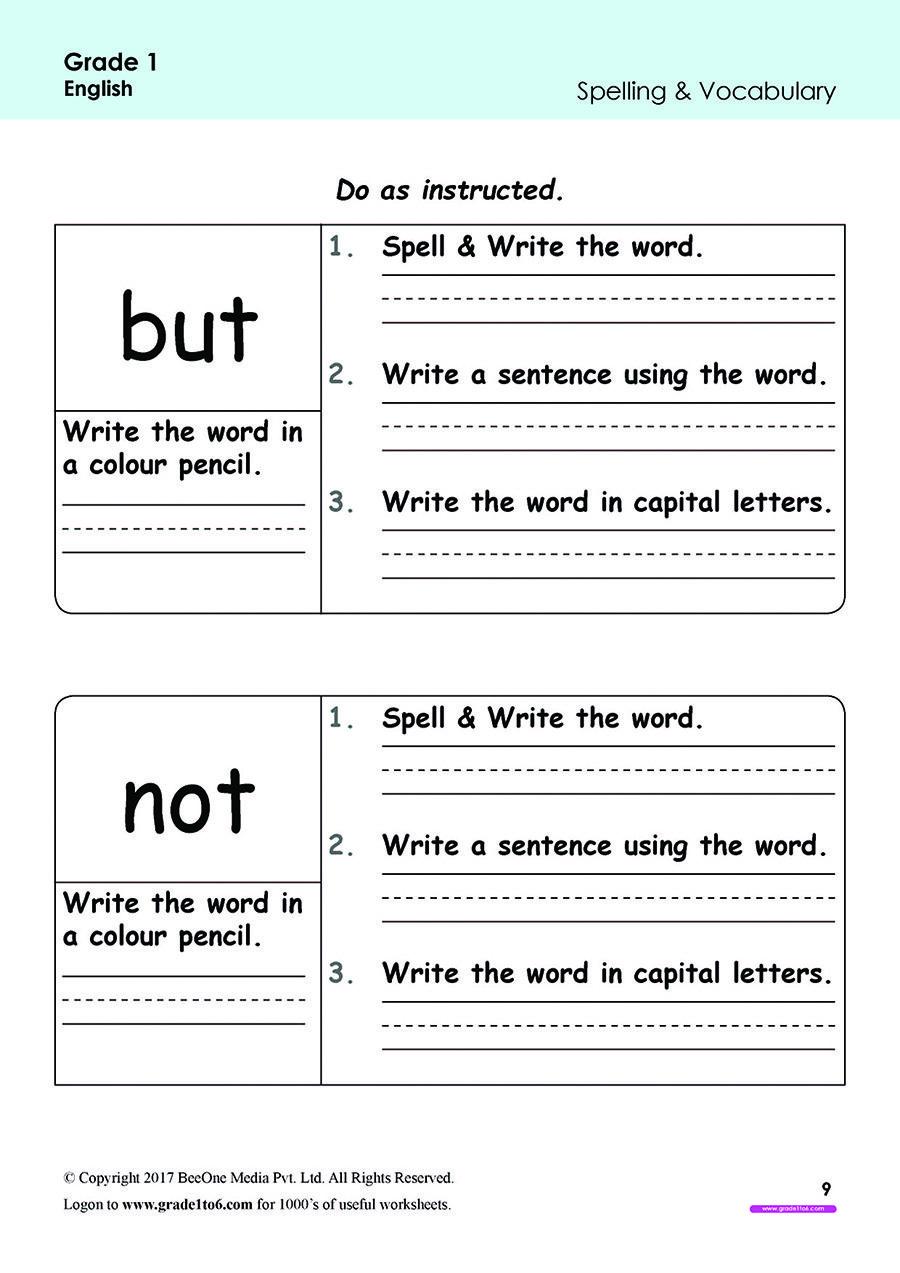 Free Printable Worksheets for Preschool, Kindergarten