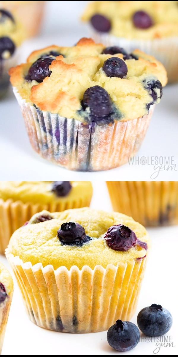 Keto Coconut Flour Blueberry Muffins Recipe