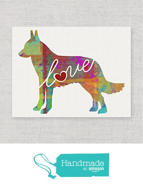 Belgian Malinois Love - An Unframed Canvas Paper / Watercolor-Style, Contemporary & Modern Dog Breed Wall Art Print - Personalization Optional (Ships Free) from traciwithani http://www.amazon.com/dp/B019QSYDHM/ref=hnd_sw_r_pi_awdo_pLCIwb1ENTFVX #handmadeatamazon