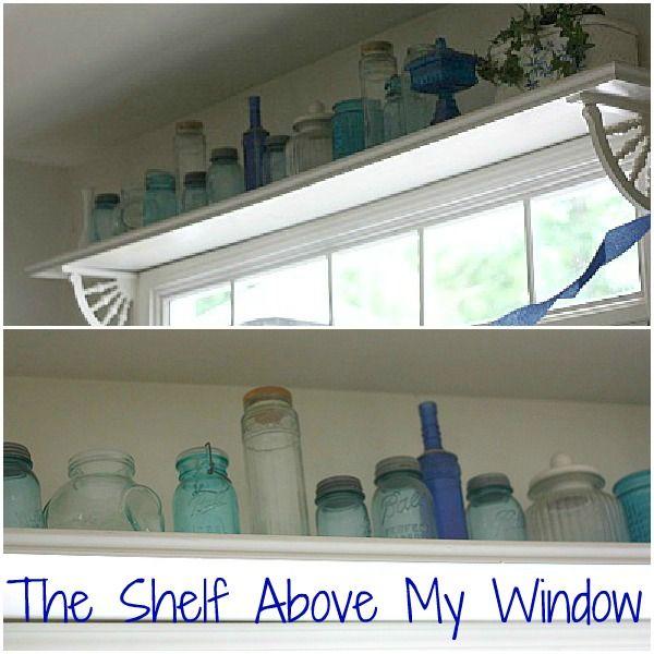 Kitchen Shelves Over Windows: Ideas For Mason Jars, Mason Jar Ideas, How To Use Mason