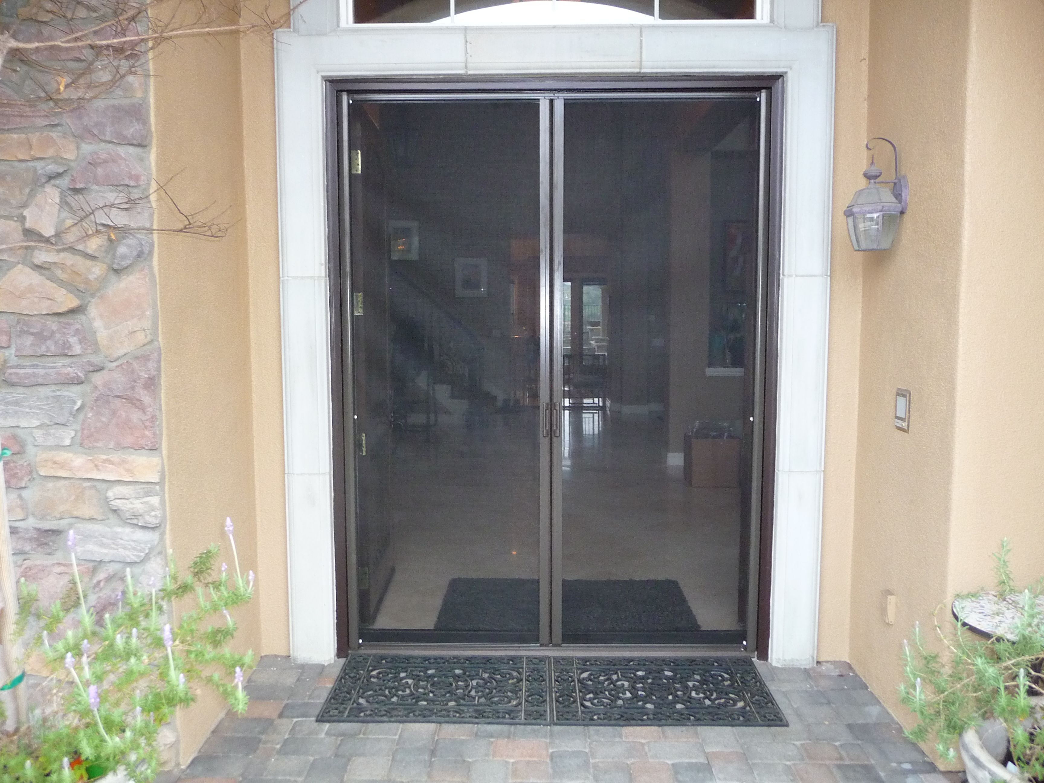 Residential Retractable Screen Double Doors Gallery Classic Home Improvement Products Retractable Screen Door Retractable Screen Screen Door