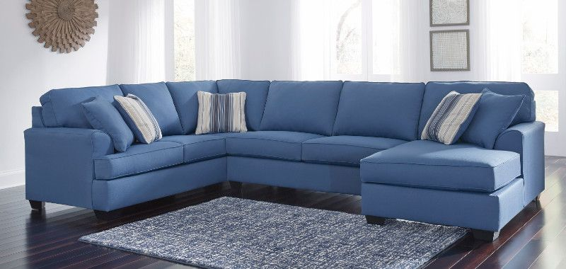 Decker 2 Piece Navy Blue Velvet Sectional Sofa Reviews Cb2 Canada Velvet Sectional 2 Piece Sectional Sofa Sectional Sofa