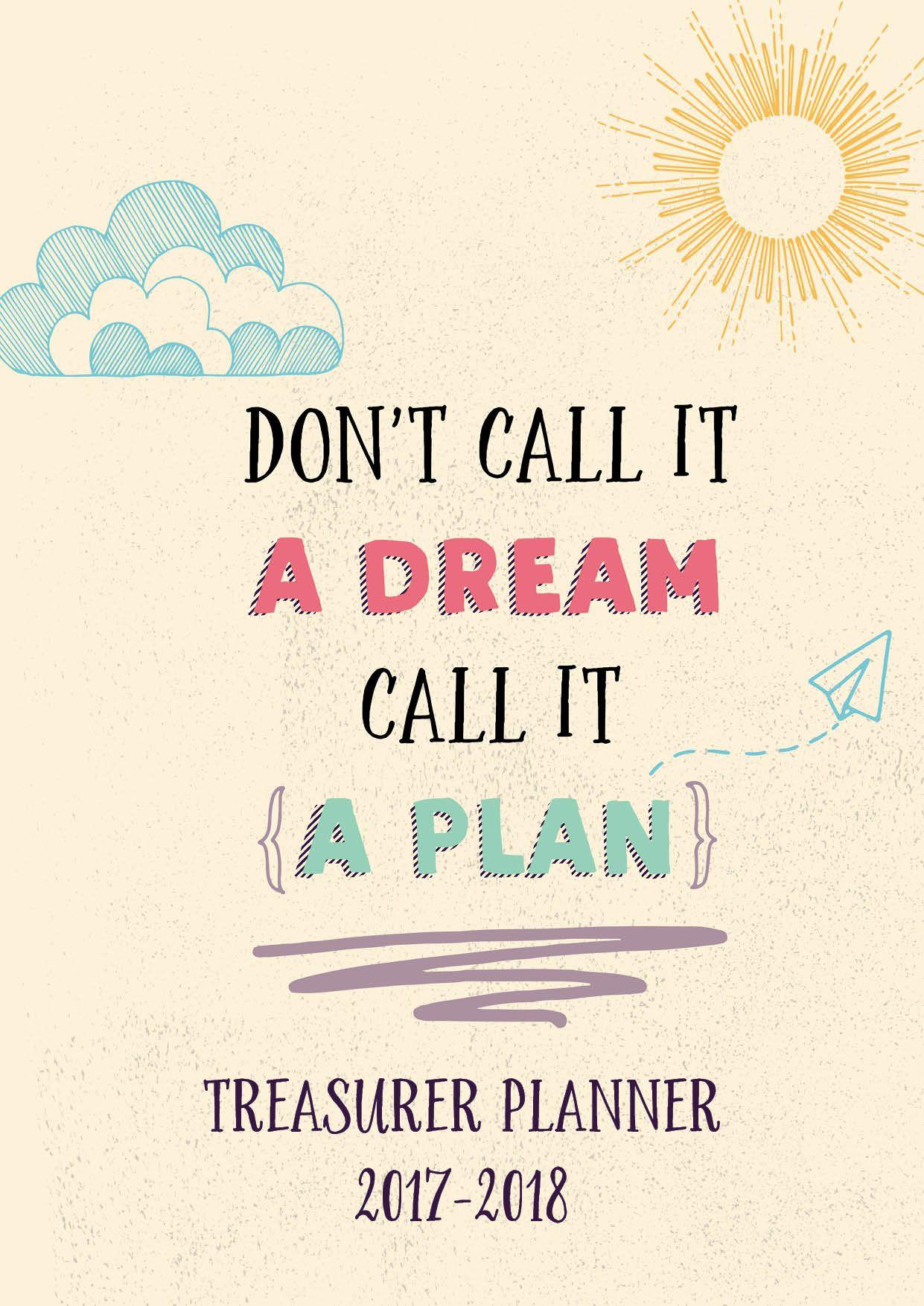 Planner 20172018 Treasurer Edition Student council