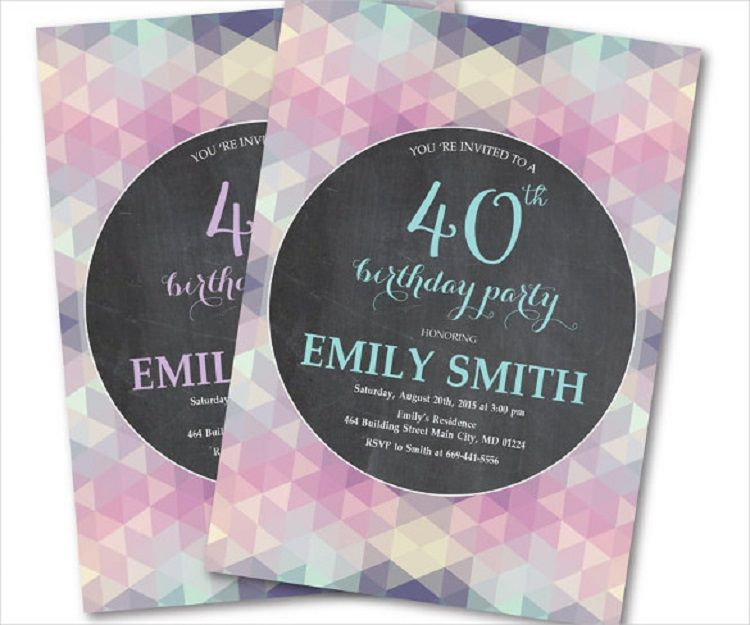 40th Birthday Invitations Female Invitation Ideas In 2018