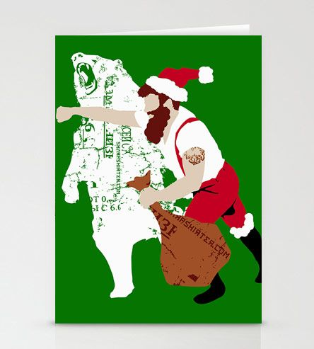 Santa Haymaker Cards | Gifts Cards & Stationery | Sharp Shirter | Scoutmob Shoppe | Product Detail