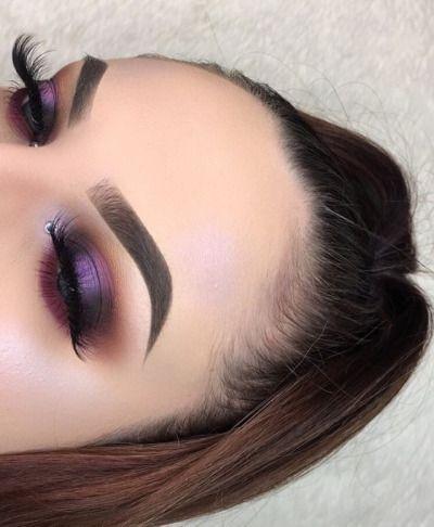 Modern Eye Makeup Ideas For Bold Purple Shimmer