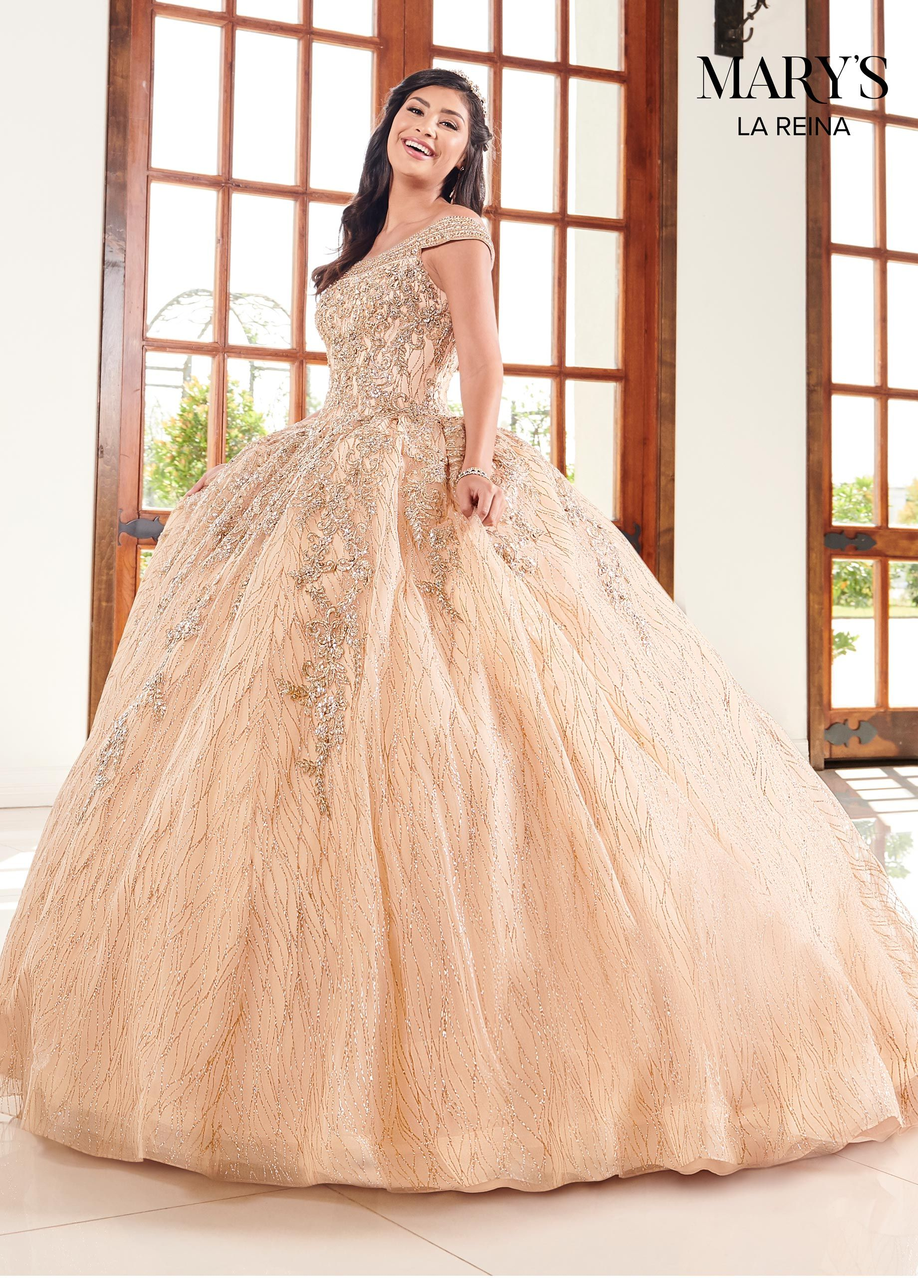 Glitter Off The Shoulder Quinceanera Dress Mary S Bridal Style Mq2095 Quinceanera Dresses Gold Quinceanera Dresses Ball Gowns [ 2560 x 1840 Pixel ]