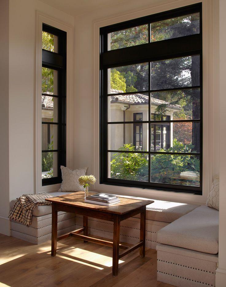 window seat living room divider