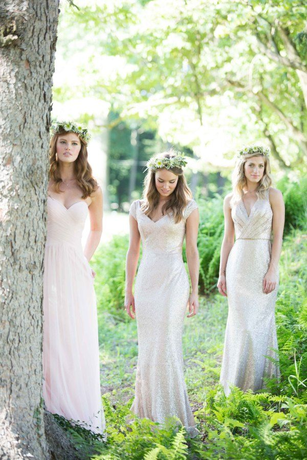 Sequin silver Mix 'n' Match Bridesmaid Dresses | fabmood.com
