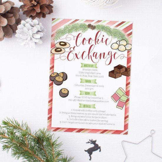 Kick off the holidays with a cookie exchange party! Download and print our free and adorable invitation to get the party started!