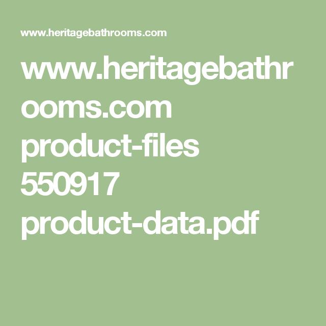 Www.heritagebathrooms.com Product-files 550917 Product