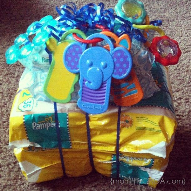 Simple Mom Hacks Pampers Diaper Tower Baby Shower Gift Idea