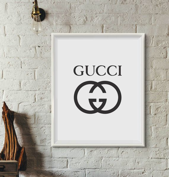 Gucci Poster Prints Gucci Logo Fashion Label Posters Best Room Ideas Bedroom Poster Prints Apartment Art