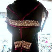 Designer Wear Full Of Golden Handwork With Stone Maroon Velvet Border Abaya By Www Rezaburqa Com Email Rezaburqa Gmail Com How To Wear Designer Wear Fashion