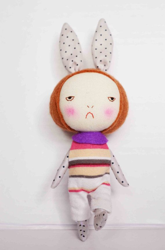 The Bunny Ears girl Bubu by EEchingHandmade | stuffed and soft ...