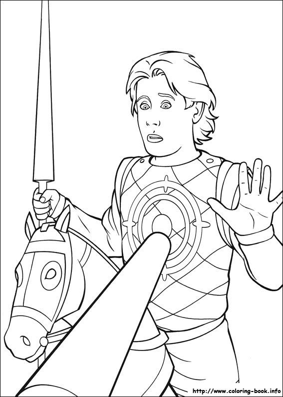 shrek-3-27 coloring page | Disney coloring pages, Coloring books ... | 794x567