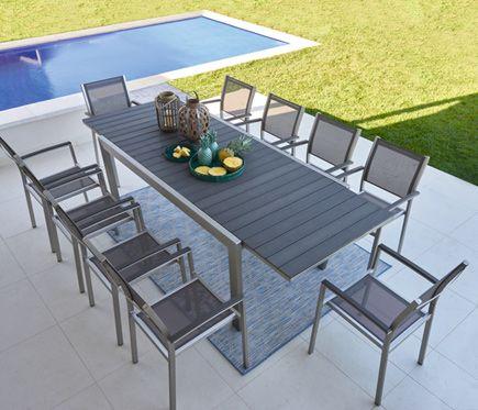 Conjunto de aluminio ALBANY - Leroy Merlin | Muebles jardin ...