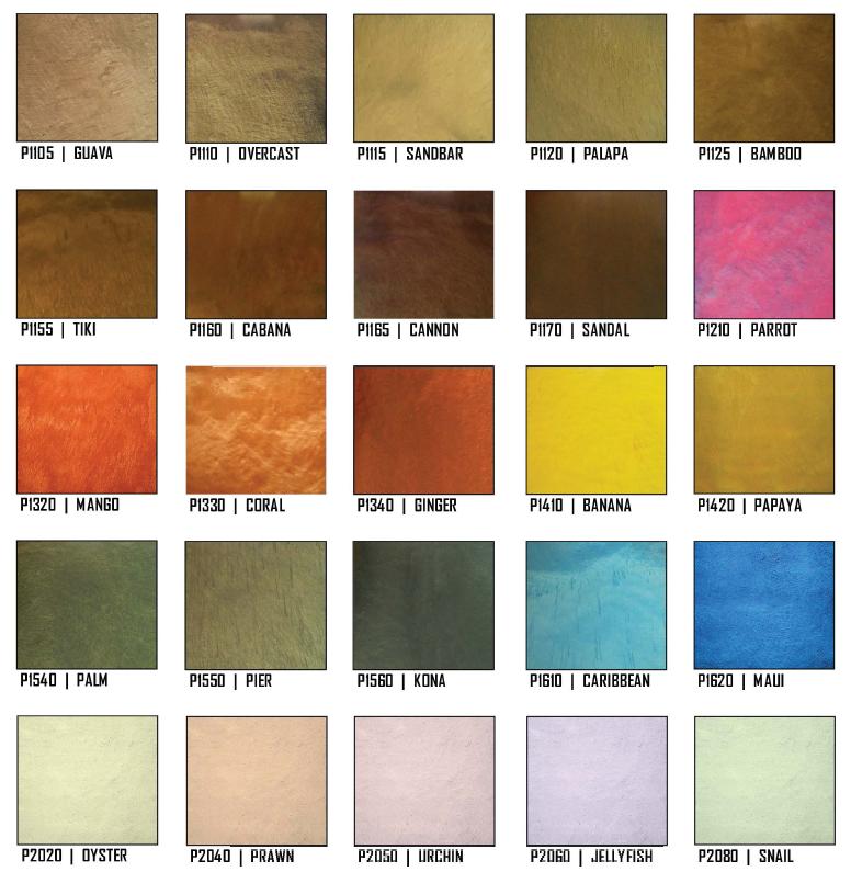 Beau Metallic Epoxy Floor Color Options