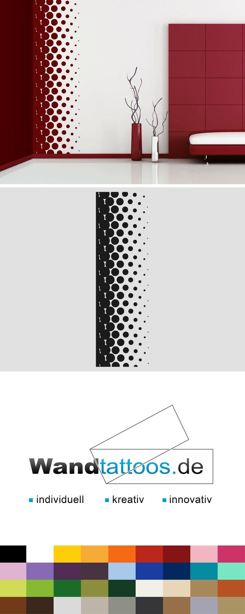 Einfache home-office-design-idee wandbanner design punkte  wandtattoo raumhoch  walls wall ideas