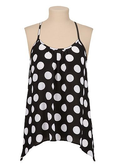 Dot Print Sharkbite hem Tank (original price, $26) available at #Maurices