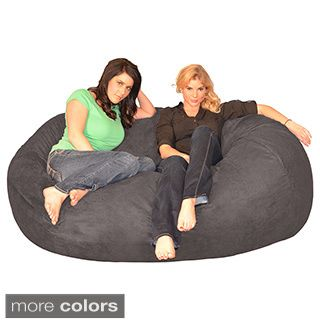 FufSack Memory Foam Microfiber 6 Foot XL Bean Bag Chair