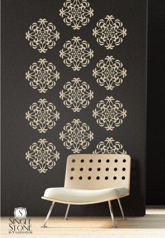 Wall Decals Medallion Wall Pattern Vinyl Stickers Art 75 00