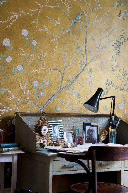 Frederick Wimsett wallpaper chinoiserie