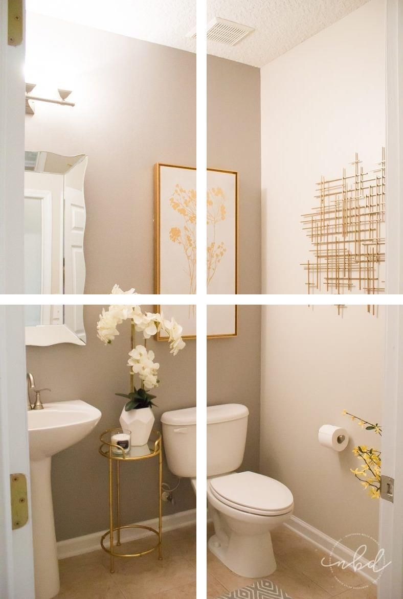Gold Bathroom Accessories Trendy, Trendy Bathroom Decor