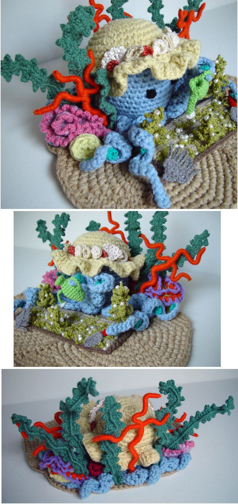 detail view | crochet flowers, veggies and other edibles by ...