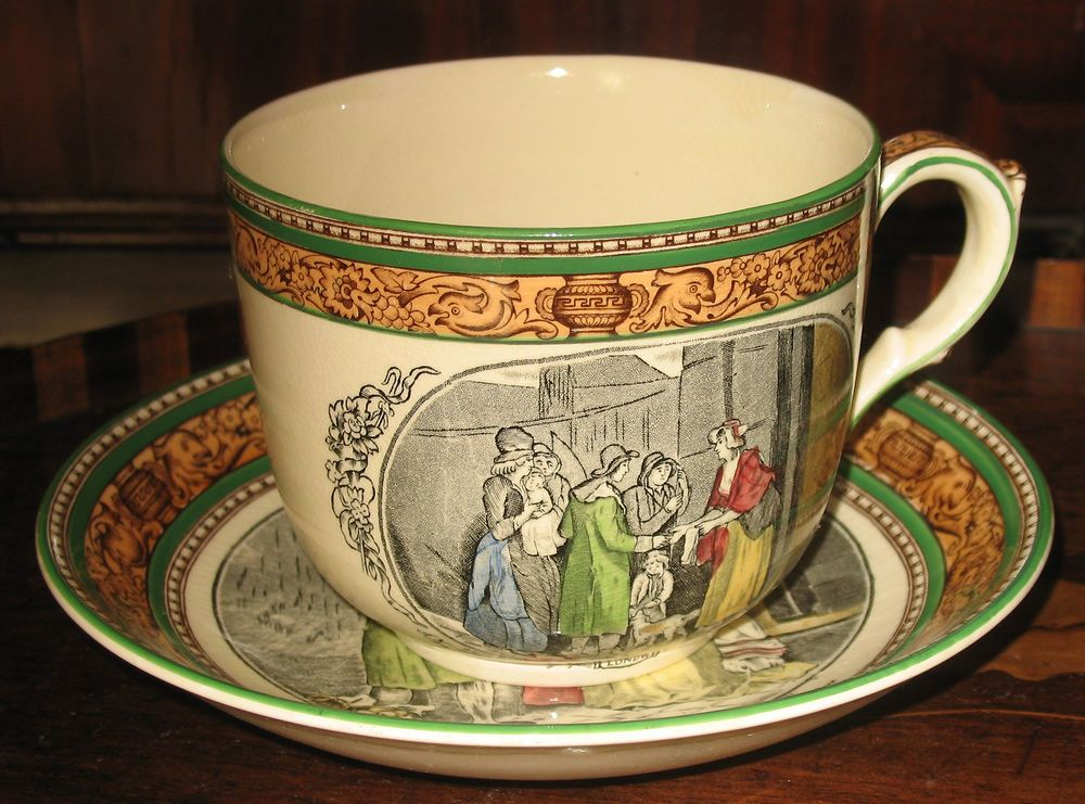 Antique Giant Adams Cries Of London Cup Amp Saucer