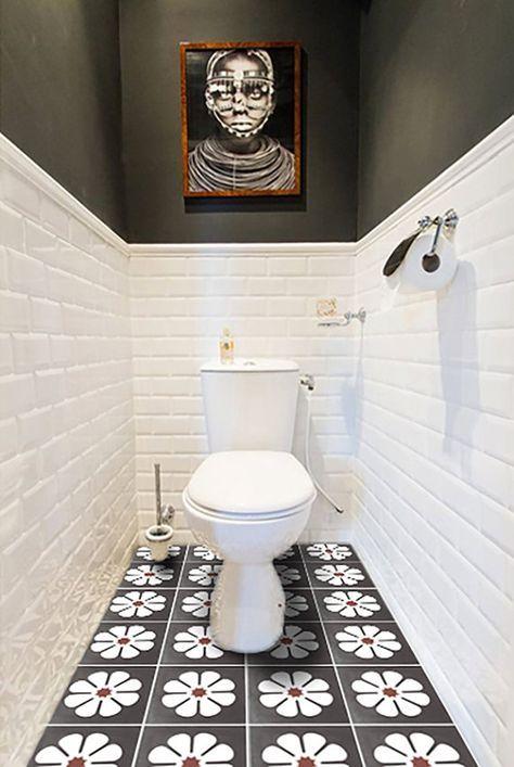 Vinyl Floor Tile Sticker Floor Decals Carreaux By Quadrostyle Interior Designs Toilet Tiles
