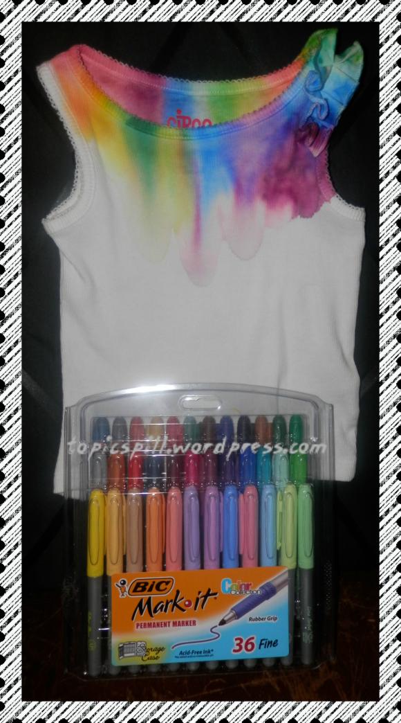 Tie Dye Bic Mark It Rainbow T Shirt