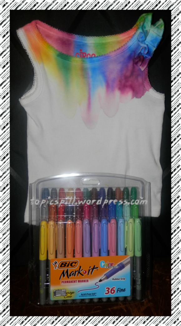 Tie Dye Bic Mark It Rainbow T Shirt
