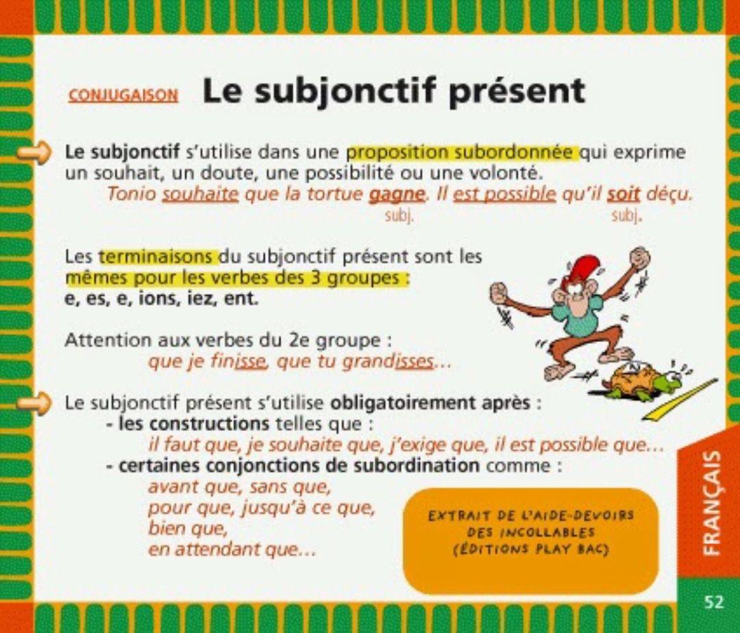 essayer au subjonctif present Le verbe essayer possède la conjugaison des verbes en : -ayer le verbe essayer se conjugue avec l'auxiliaire avoir le verbe essayer est de type transitif direct la voix passive peut être utilisée pour le verbe essayer car celui-ci est de type transitif direct.