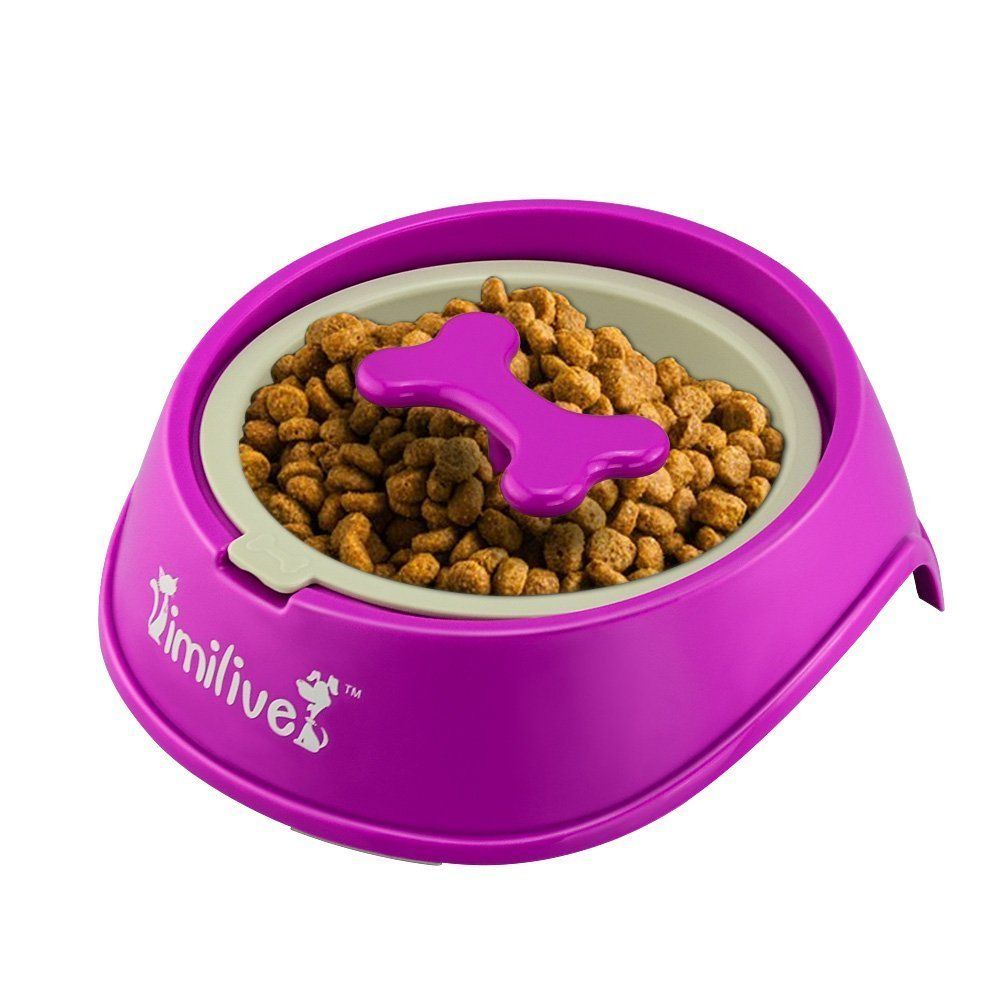 Mystery Plastic Dog Bowl Slow Feeder For Small Dogs Non Toxic