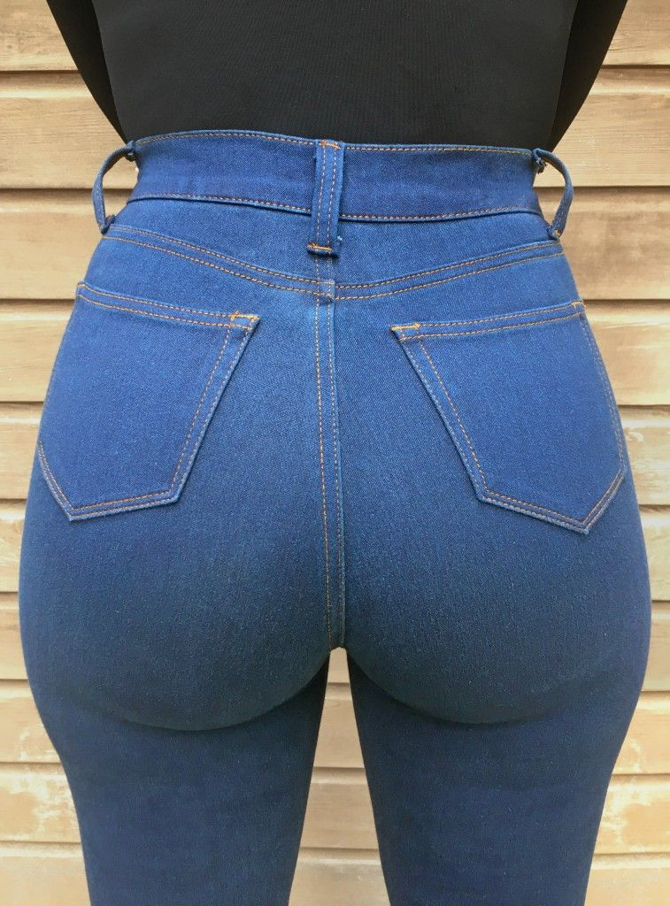 tight ass in blue jeans