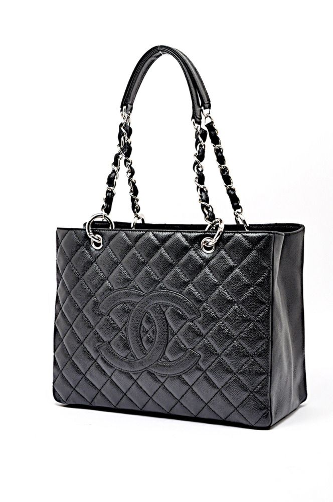 0c02acfe1751ce NIB CHANEL GST Grand Shopping Tote Black Caviar Silver Hardware SHW #Chanel  #Tote