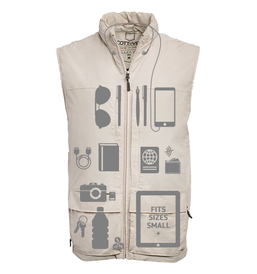 The vest with unlimited potential... and 42 pockets.
