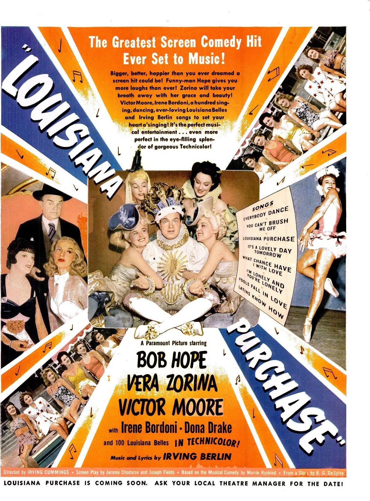 Louisiana Purchase(1941) ※12/22/1941,LIFE #Movies | Bob hope ...