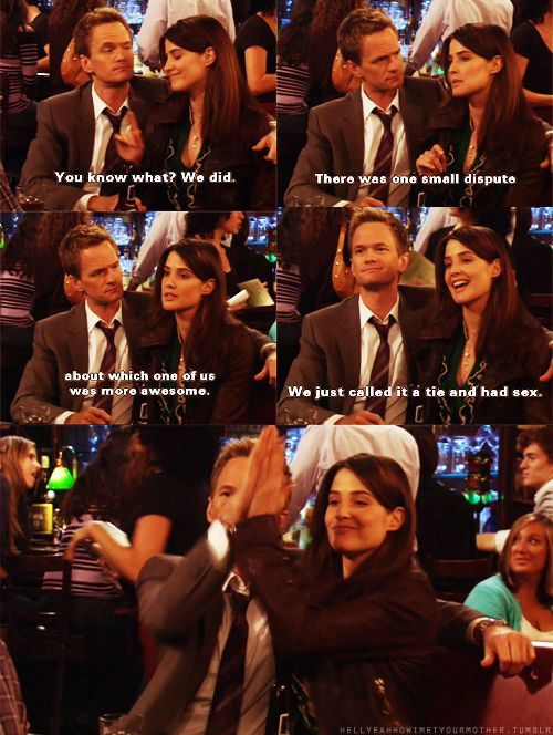 How I Met Your Mother Robin Y Barney Pinterest Frases De Risa