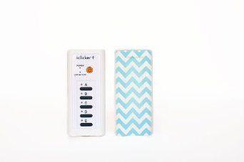 Amazon.com: Blue Chevron clickerskin fits i>clicker+: Electronics, college, accessories, dorm, i>cilcker, skin, customize, protect.