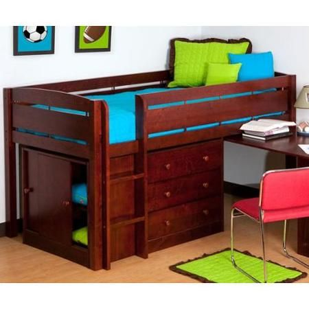 Canwood Whistler Junior Loft Bed Cherry Home Design Ideas