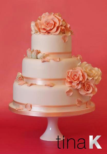 Peaches And Cream Wedding Cake By Tina K Cakes Endorajewellery