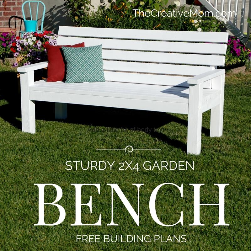DIY Sturdy Garden Bench- Free Building Plans -   14 garden design Interior benches ideas