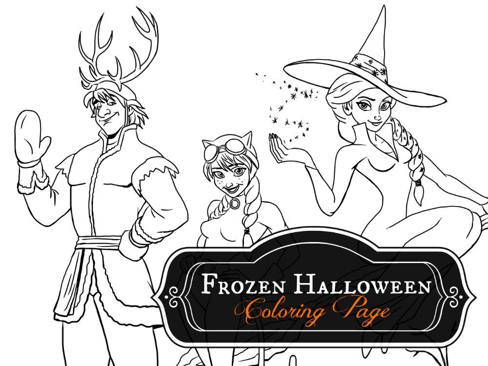 Frozen Halloween Coloring Page Mommy In Sports Halloween Coloring Pages Halloween Coloring Frozen Halloween