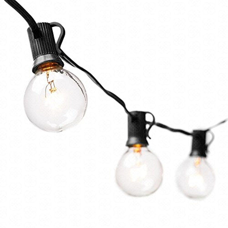 String Light Bulbs Vintage Backyard Patio Lights Outdoor 25 Feed G40 Bulbs  String Lights Bistro Market