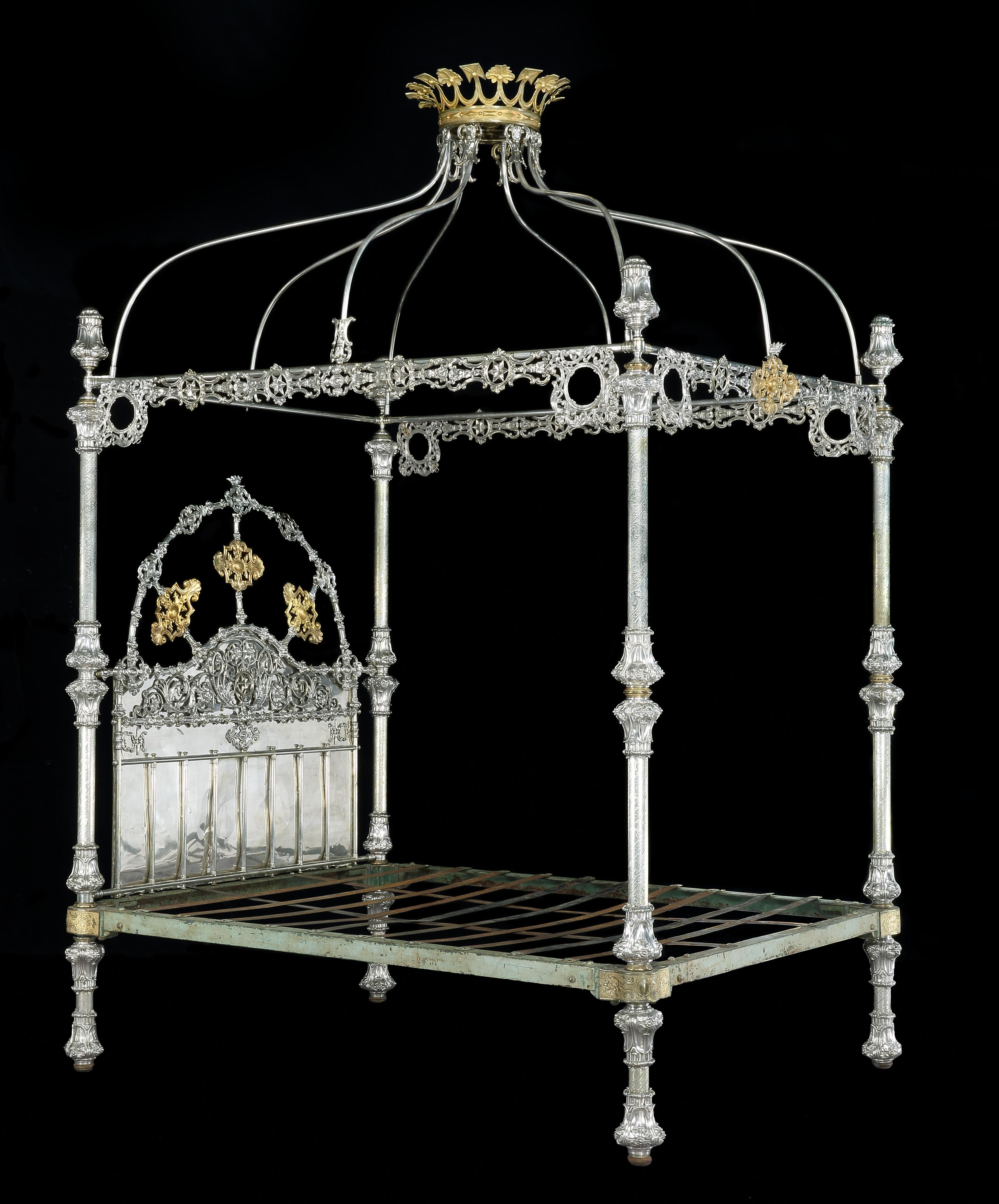 Exceptional Victorian Four Poster Bed by R.W. Winfield