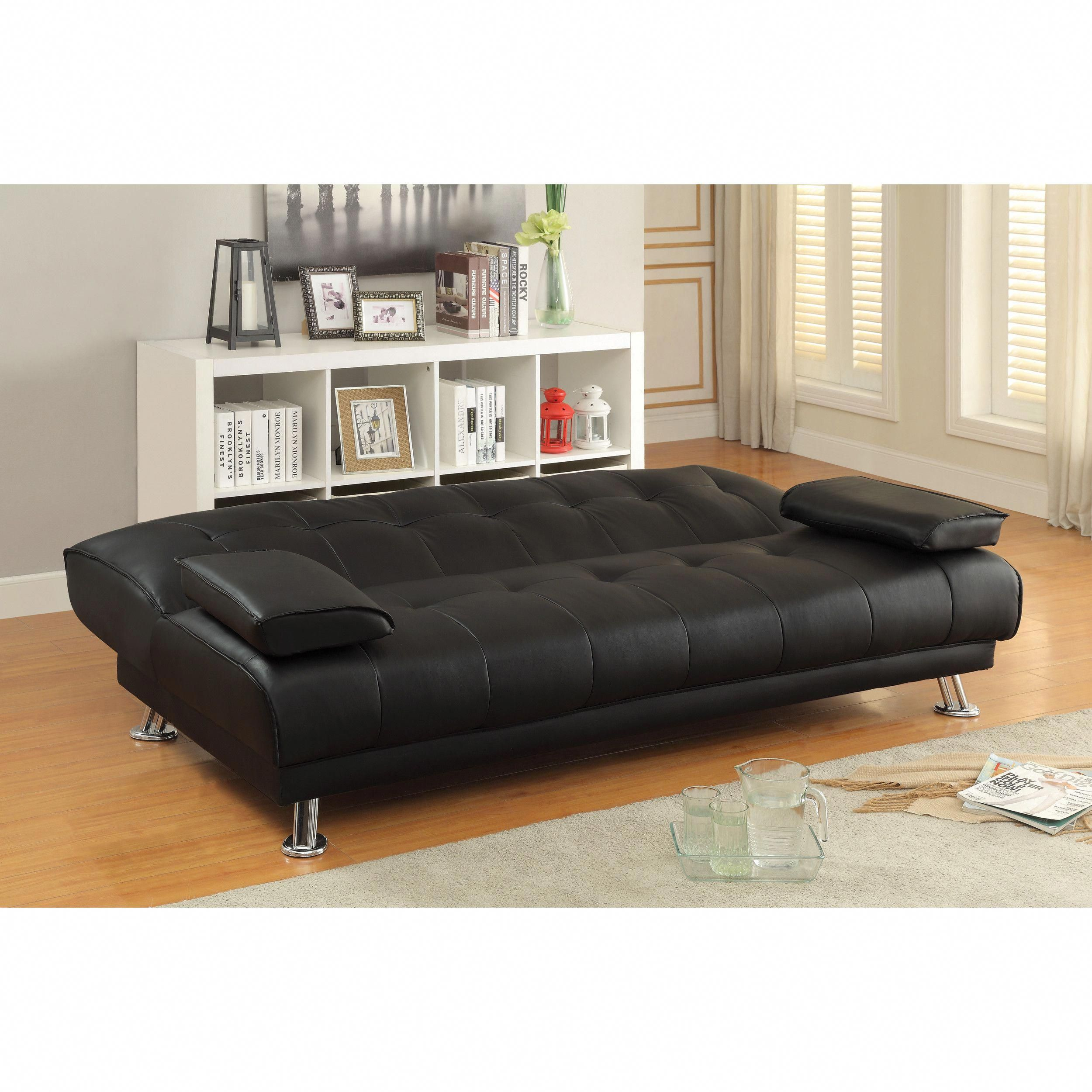 "2018 Best Black Leather Sofa Beds ""Luxury, Elegance, and ..."