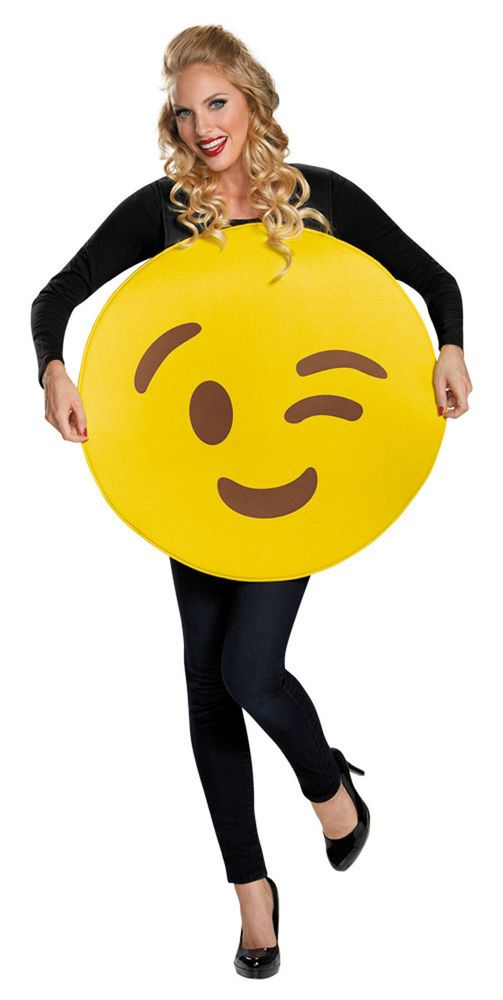 Halloween Emoji Text: Details About Morris Costumes Emoticon Wink Costume