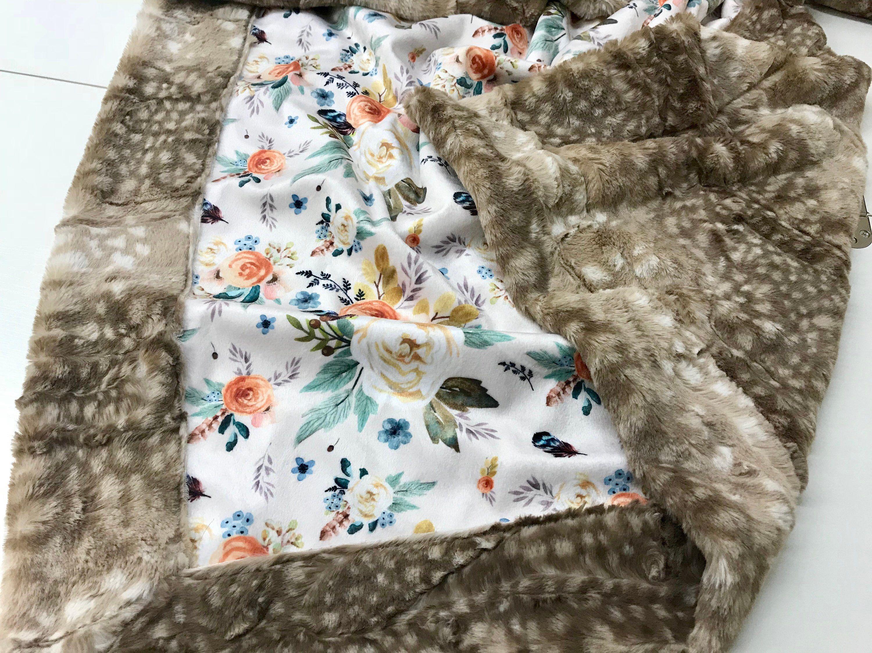 luxe minky baby girl blanket nursery blanket minky baby blanket girl minky blanket baby crib blanket minky baby blankets